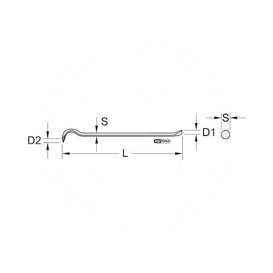 Páčidlo KS-Tools 6x10 FISKARS® 1560594 L-11