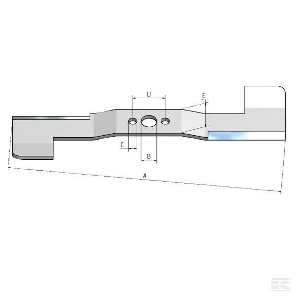 Nůž žací Stiga 45S Combi  181004121-0 L-11