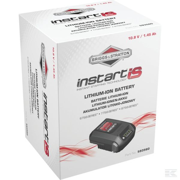 Baterie startování motoru B&S instart iS