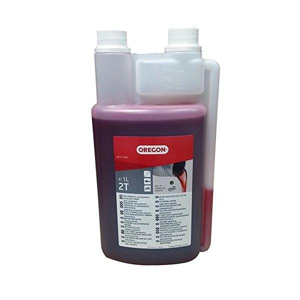 Olej 2takt polosyntetický s měrkou 1l OREGON červený