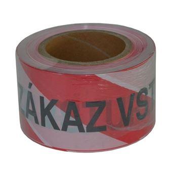 Páska výstražná ZÁKAZ VSTUPU 75mm x 250bm